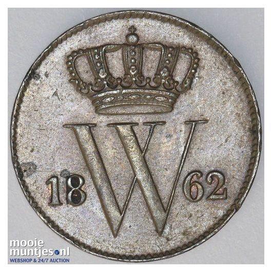 1 cent - Willem III - 1862 (kant A)