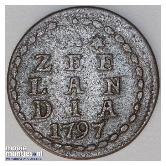 Zeeland - Duit - 1797 over 96 (kant A)