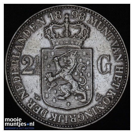 2½ gulden - Wilhelmina - 1898 (kant A)
