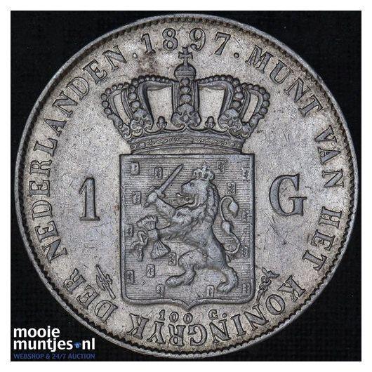 1 gulden - Wilhelmina - 1907 (kant A)