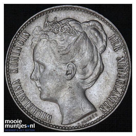 1 gulden - Wilhelmina - 1907 (kant B)