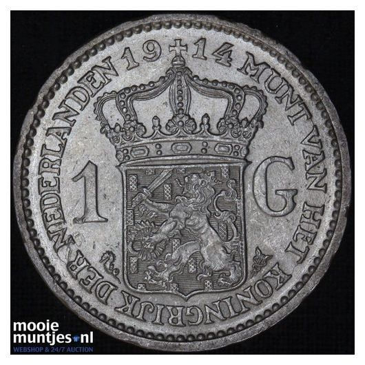 1 gulden - Wilhelmina - 1914 (kant A)