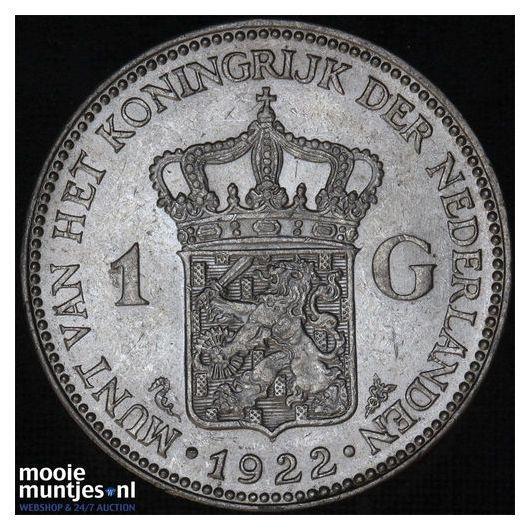 1 gulden - Wilhelmina - 1930 (kant A)