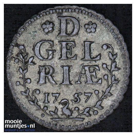 Gelderland - Halve duit - 1757 (kant A)