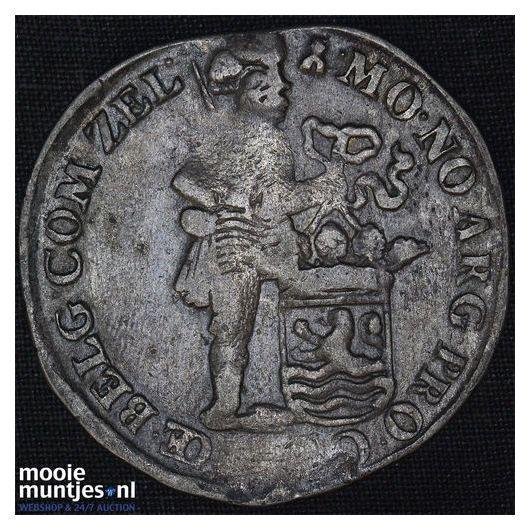 Friesland - Nederlandse halve gulden - 1696 (kant B)