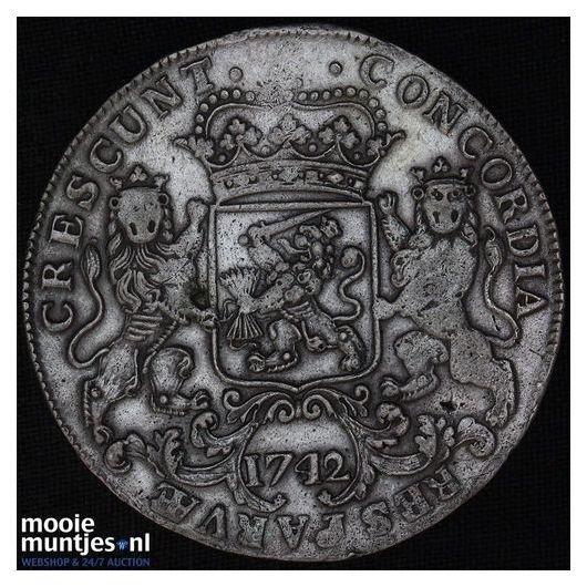 West-Friesland - Zilveren rijder of dukaton - 1742 (kant A)