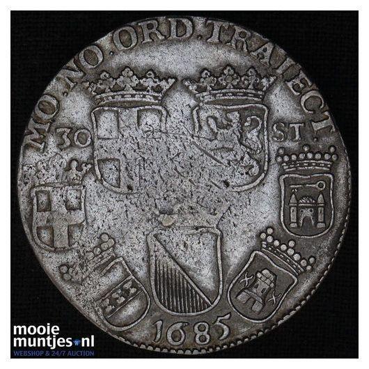 Utrecht - Halve gulden - 1763 (kant A)