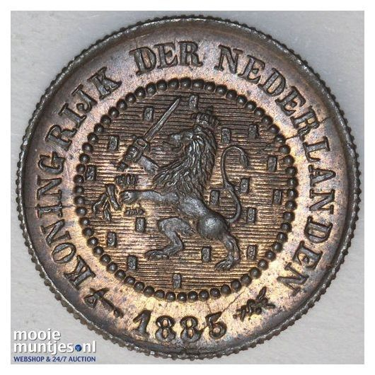 ½ cent - Willem III - 1886 (kant A)