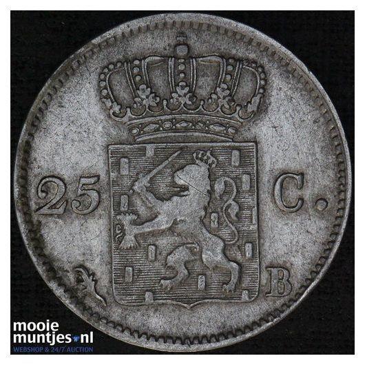 25 cent - Willem I - 1830 (kant B)