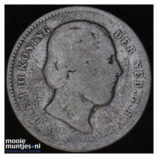 25 cent - Willem III - 1890 (kant B)