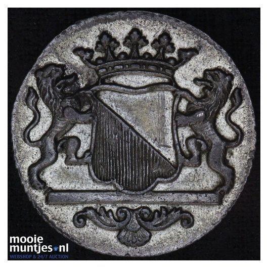 Stad Utrecht - Duit - 1773 (kant B)
