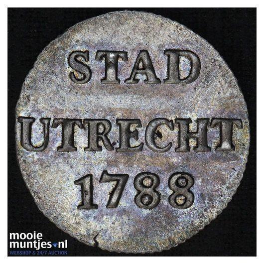 Stad Utrecht - Duit - 1773 (kant A)