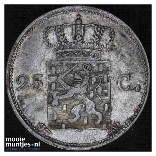 25 cent - Willem I - 1819 (kant B)