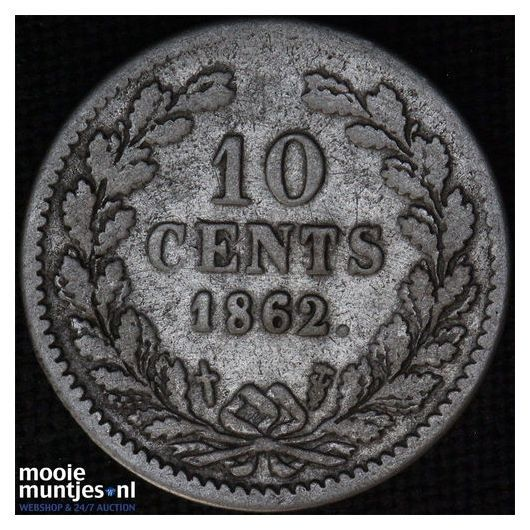 10 cent - Willem III - 1850 (kant A)