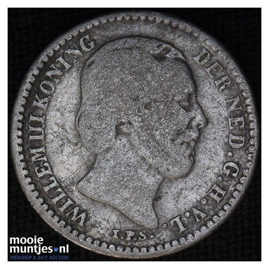 10 cent - Willem III - 1850 (kant B)