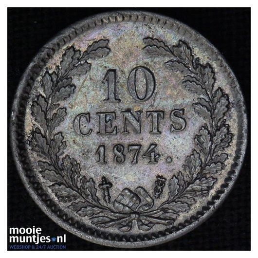 10 cent - Willem III - 1850 (kant A)