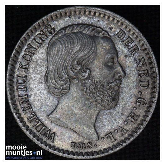 10 cent - Willem III - 1850 (kant B)