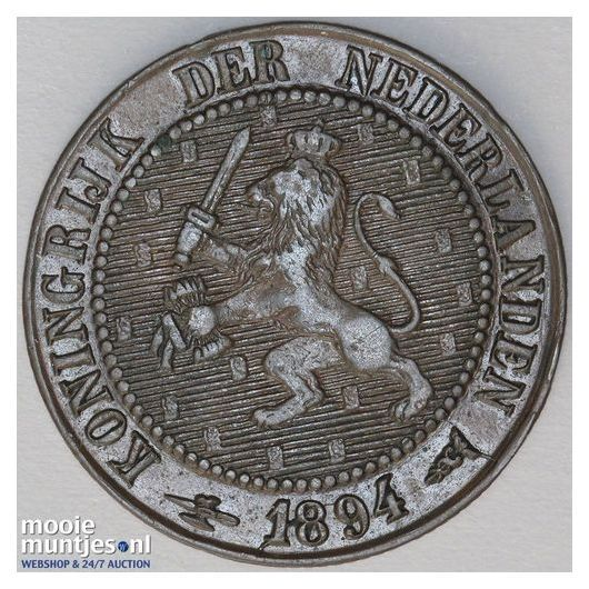 2½ cent - Wilhelmina - 1894 (kant A)