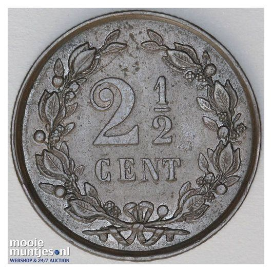 2½ cent - Wilhelmina - 1894 (kant B)