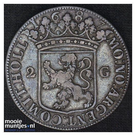 Holland - Tweegulden - 1687 (kant A)