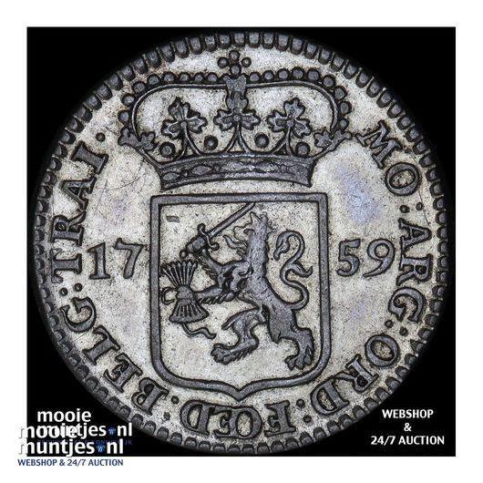 Utrecht - Kwart gulden - 1758 (kant A)