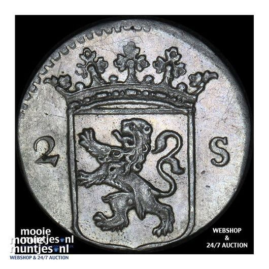 Utrecht - Dubbele wapenstuiver - 1787 (kant B)