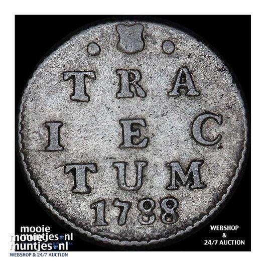 Utrecht - Dubbele wapenstuiver - 1787 (kant A)