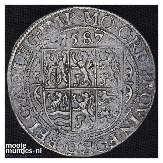Holland - Leicesterrijksdaalder, zes provinciewapens - 1587 (kant A)