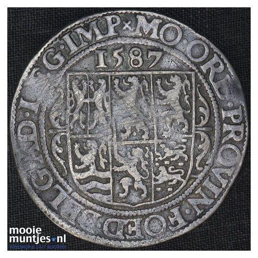 Gelderland - Leicesterrijksdaalder, zes provinciewapens - 1587 (kant A)