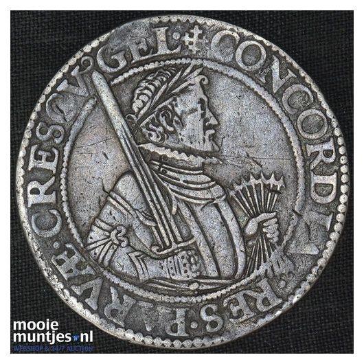 Gelderland - Leicesterrijksdaalder, zes provinciewapens - 1587 (kant B)