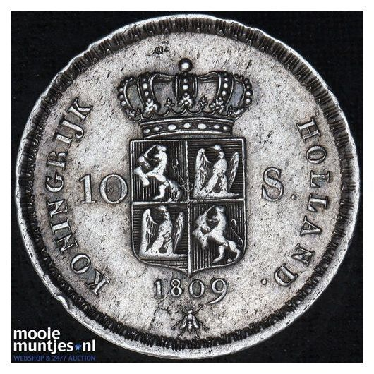 10 stuiver - Lodewijk Napoleon - 1809 (kant A)