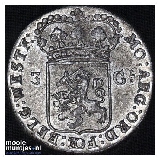 West-Friesland - 3 gulden - 1795 (kant B)