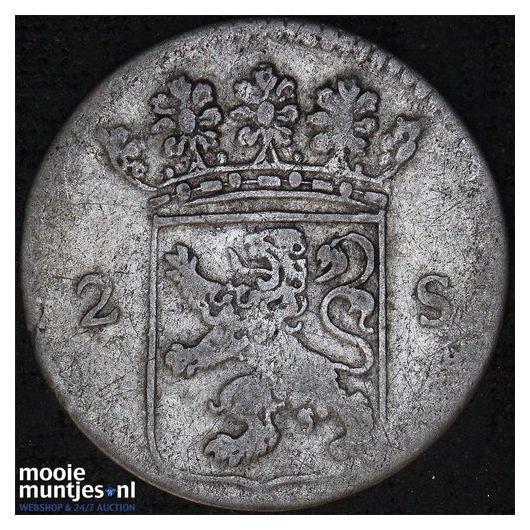 Holland - Dubbele wapenstuiver - 1792 (kant B)