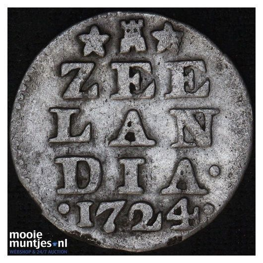 Zeeland - Dubbele wapenstuiver - 1765 (kant A)