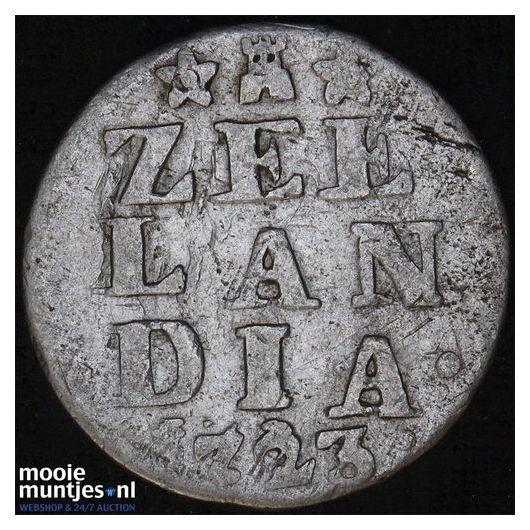 Zeeland - Dubbele wapenstuiver - 1723 (kant A)