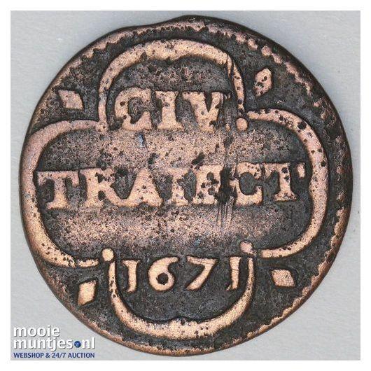 Stad Utrecht - Duit - 1740 (kant A)