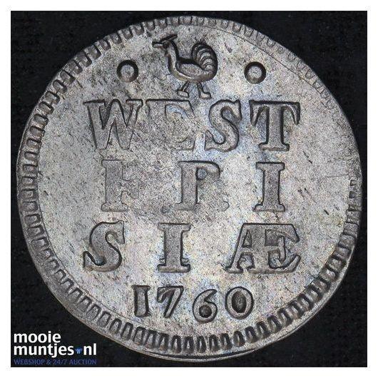 West-Friesland - Dubbele wapenstuiver - 1730 (kant A)