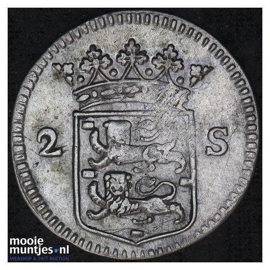 West-Friesland - Dubbele wapenstuiver - 1730 (kant B)