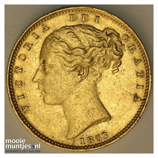 sovereign (guinea coinage) - Great Britain 1853 (KM 736.1) (kant A)