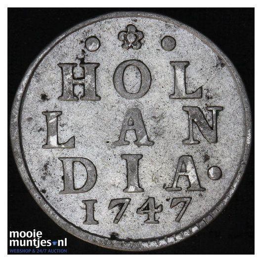 Holland - Zilveren duit - 1747 (kant A)