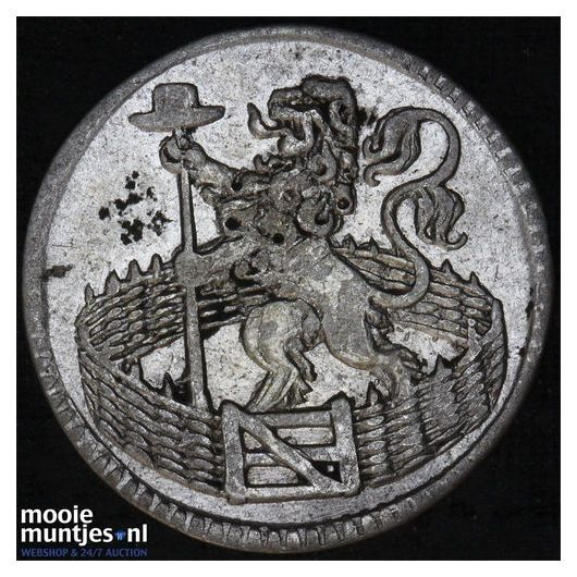Holland - Zilveren duit - 1747 (kant B)