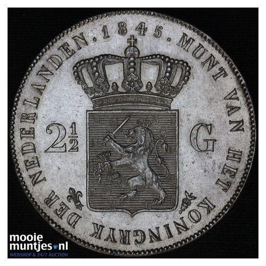 2½ gulden - Willem II - 1845 (kant A)