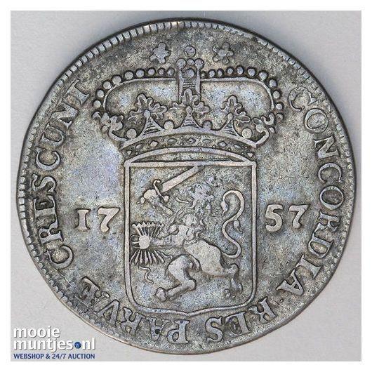 Zeeland - Zilveren dukaat - 1757 (kant A)