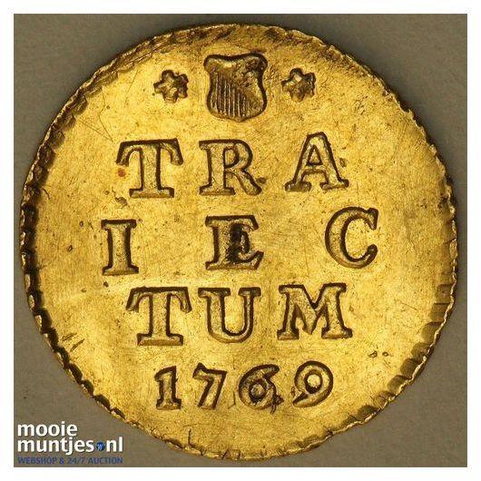 Holland - Zilveren duit - 1756 (kant A)