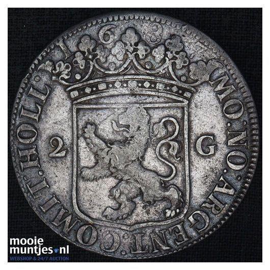Holland - Provinciale tweegulden - 1687 (kant A)