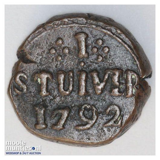stuiver - Ceylon 1795 (KM 26) (kant A)