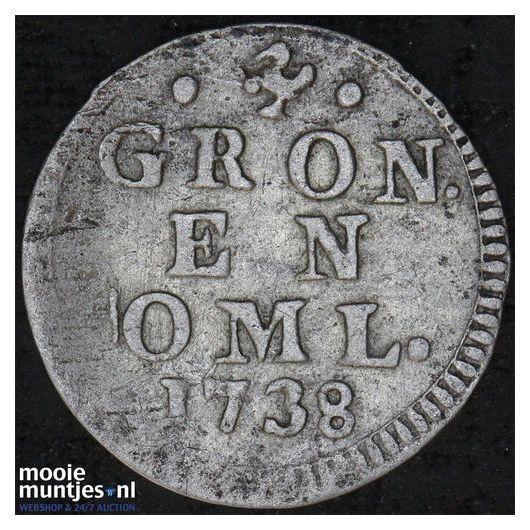 Groningen - Pijl- of bezemstuiver - 1738 (kant A)
