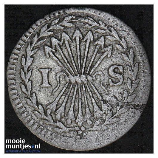 Groningen - Pijl- of bezemstuiver - 1738 (kant B)