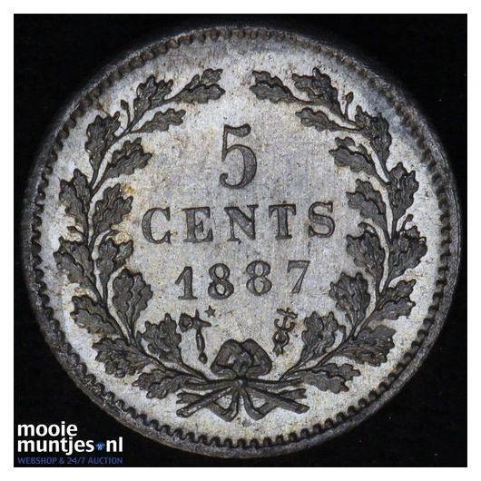 5 cent - Willem III - 1887 (kant A)