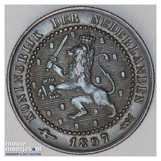 1 cent - Wilhelmina - 1899 (kant A)